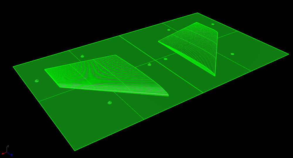 Rhino V5 3D SLW als STL gespeichert