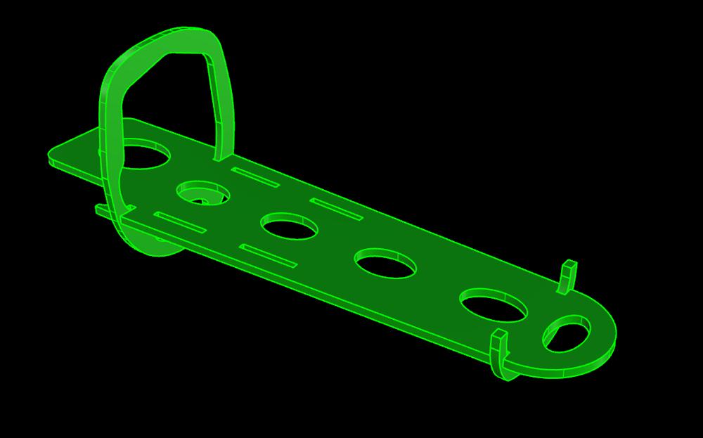 Spantengerüst mit ausschnitt für den Regler YEP 100A